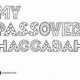 Haggadah Coloring Passover Haggadot Own Books sketch template