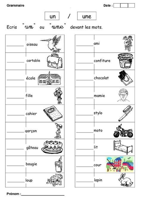 un ou une troline un ou une cp exercices grammaire cycle 2 pass education