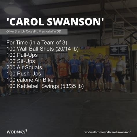 wod carol swanson branch olive
