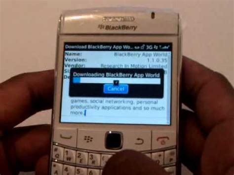 how to install blackberry app world on to your blackberry 9700