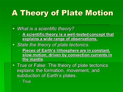 what theory explains how earth s plates form and move chapter 17 plate tectonics ppt video online download