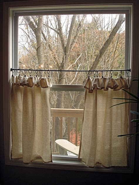 cafe curtainsburlap dining room window seat cafe curtains cafe curtains kitchen kitchen