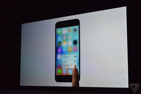 apple brings 3d touch to the iphone 6s the verge