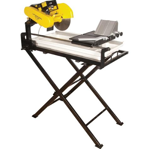 qep 24 in dual speed tile saw 2 hp motor cutting with 10 in continuous blade