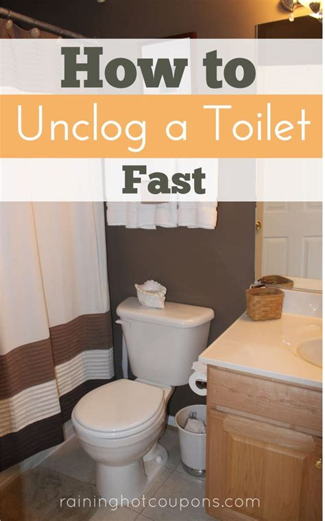 How To Unclog A Toilet Fast  Toilets, Soaps And Coupon