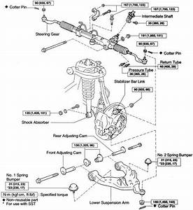 2002 Toyota Tundra Front Suspension Diagram