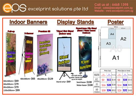 poster banner printing display pricelist printing services singapore print banner