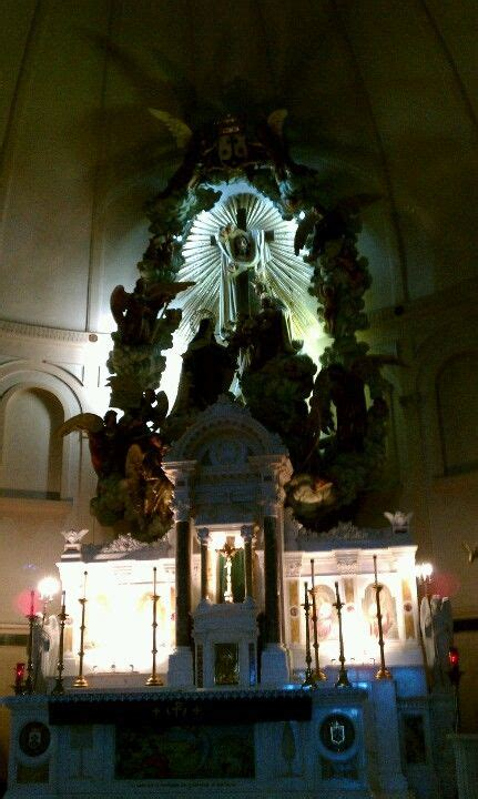 Another view of the altar at the Shrine of St Theresa