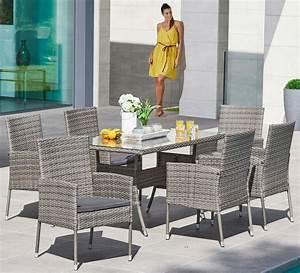 Polyrattan Tisch Grau : gartenm belset costa rica 13 tlg 6 sessel tisch 140x80 cm polyrattan grau online kaufen ~ Indierocktalk.com Haus und Dekorationen
