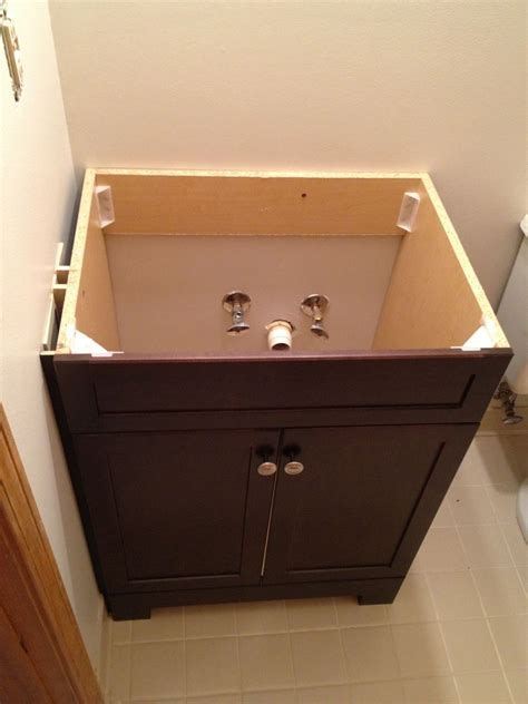 how to attach sink to vanity how to replace and install a bathroom vanity