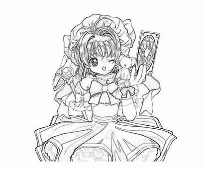 Sakura Coloring Cardcaptor Pages Kinomoto Profil Printable