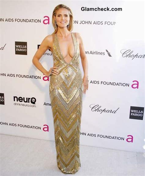 Heidi Klum Sports Risque Dazzler Elton John Oscar
