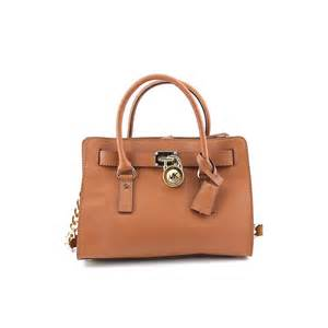 Michael Kors Brown Leather Satchel Purse