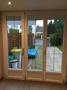 Fenetre 3 Vantaux Pvc : installation d une porte fen tre 3 vantaux pvc de la gamme charme evolution oknoplast villepreux ~ Melissatoandfro.com Idées de Décoration