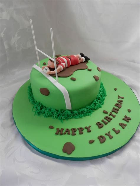 rugby themed birthday cake   tasty cupcakes
