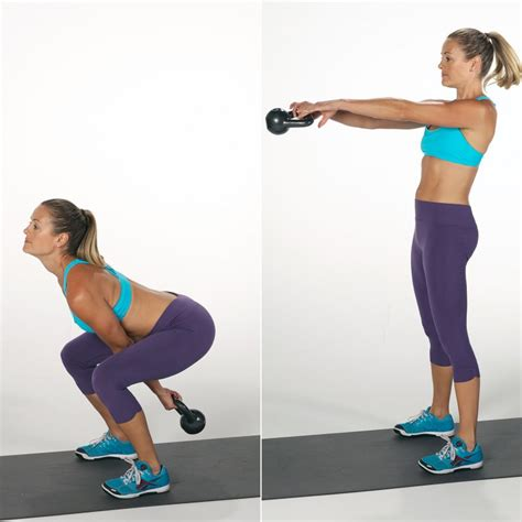 kettlebell arm workout killer swing squat swings popsugar