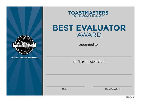 Speech Contest Certificate Template by Best Evaluator Certificate Mini Set Of 10