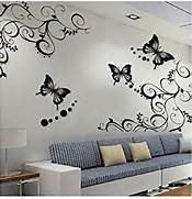 Wall Stickers Decoration Artistic Flower Wall Decal Sticker Removable Wall Art Decal Sticker Decor