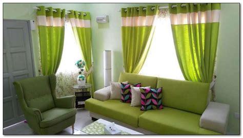 desain ruang tamu sempit ukuran    warna hijau muda