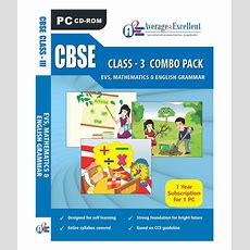 Cbse Class 3 Evs,mathematics, English Grammar Educational Cd Roms By Average2excellent Buy Cbse