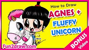 How To Draw A Fluffy Unicorn Agnes From Despicable Me