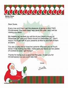 Santa Letter Divorced Parents