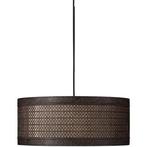 Home Depot Drum Light by Global Direct 3 Light Black Drum Pendant 21891 The Home