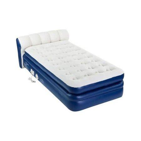 size air mattress at walmart aerobed 2000011776 size elevated headboard airbed w