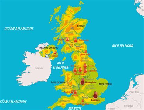 Carte Interactive Des Montagnes De by Le Royaume Uni Relief Et Ses Grandes Villes Cartes
