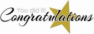 You Did It ! Congratulations