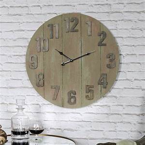 Large, Wooden, Industrial, Style, Wall, Clock