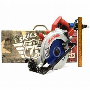 Briefly Used Skilsaw 7 25 U0026quot  Worm Drive Circular Saw No