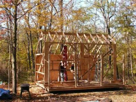shed material list cabin plan loft building guest cottage treesranchcom