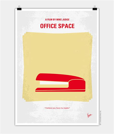 Office Space Poster by No255 My Office Space Minimal Poster Chungkong