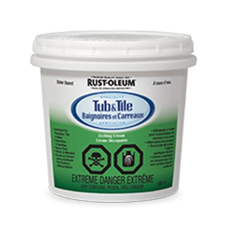 rustoleum tub and tile rust oleum 174 specialty tub tile etching