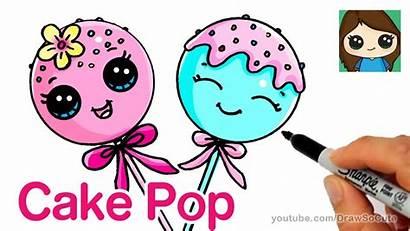 Drawings Cake Cartoon Draw Easy Pop Drawing
