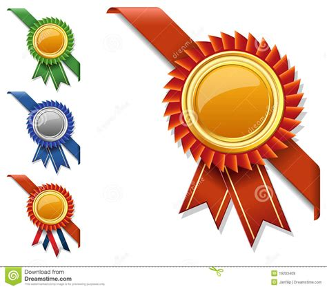 vector corner ribbon  quality certificate stock