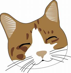 Happy Cat Face Clip Art at Clker.com - vector clip art ...