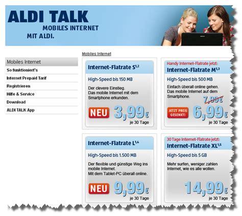 aldi talk neue internet flatrates und preissenkung