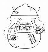 Honey Coloring Jar Sweet Pot Bee Eve Pooh Drawing Cartoon Bear Printable Drawings Getcolorings Designlooter 52kb 650px sketch template