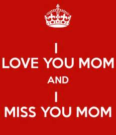 I Love and Miss You Mom
