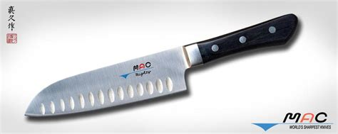 mac kitchen knives professional series 6 1 2 quot santoku with dimples msk 65 mac knife