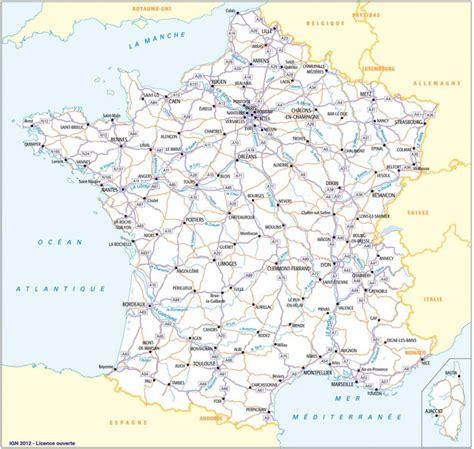 Carte vierge des principales villes françaises. Cartograf.fr : Carte France : Page 3 concernant Carte De ...