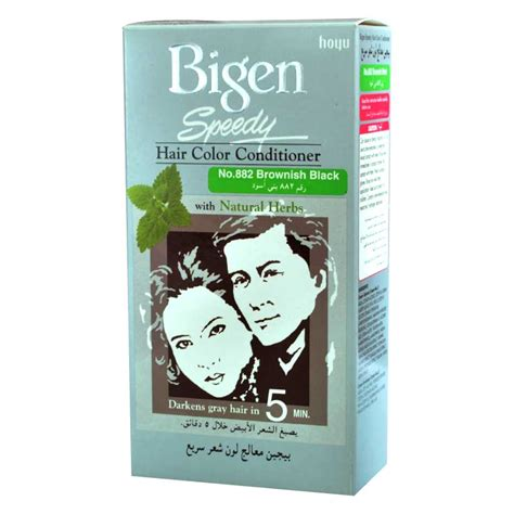 Brownish Black Hair Color by Bigen Speedy Brownish Black No 882 Hair Color Dye