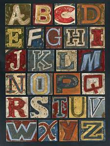 vintage alphabet wall canvas art With letters for canvas art