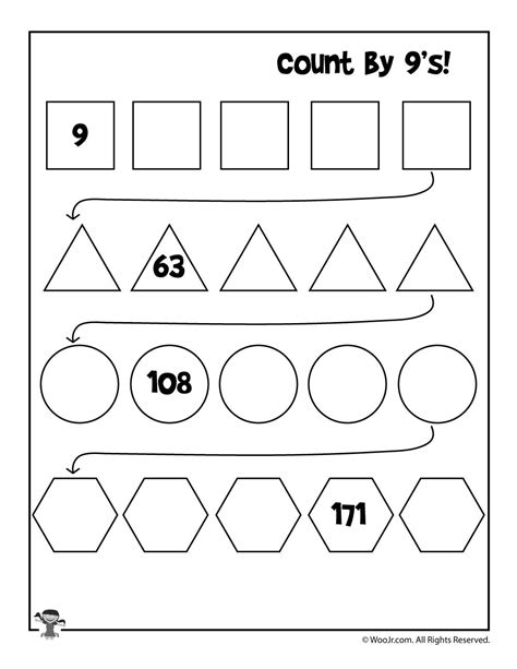simple skip counting worksheets to print woo jr kids