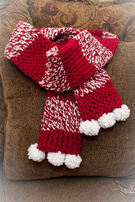 loom knit holiday scarf loom knitting   moment  good