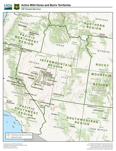 wild horse territories burro map forest service mb pdf