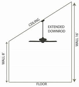 Ceiling Fan Downrod Length Chart Fan Specifications