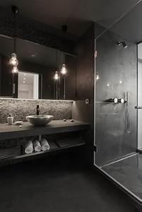 comment choisir le luminaire pour salle de bain With salle de bain grise et noire